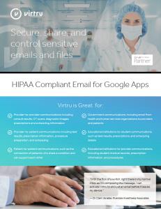 Virtru and HIPAA