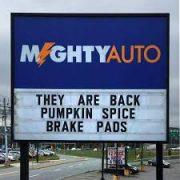 Pumpkin Spice Brake Pads