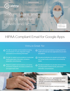 Virtru and HIPAA