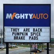 Pumpkin Spice Brake Pads